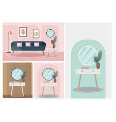 modern trendy interior design plant in room vector image