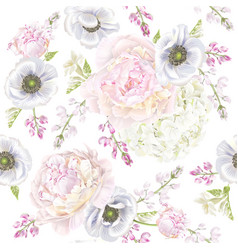 peont anemone pattern vector image