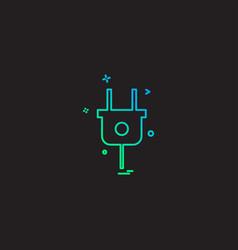 plugh icon design vector image