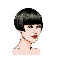 Portrait of a brunette vector image