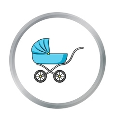 Pram icon in cartoon style isolated on white vector image