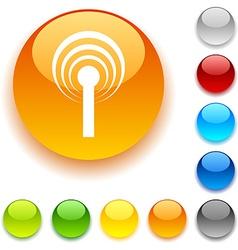 Radio button vector image