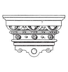 Renaissance console polished nickel vintage vector