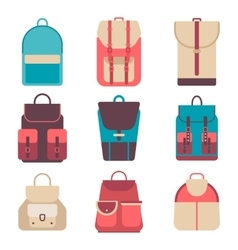 School backpack in a flat style Kids backpack on vector image