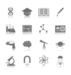 Science and Research Icon Black vector