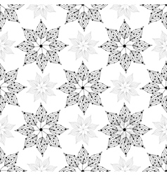 Seamless pattern floral ornament vector image