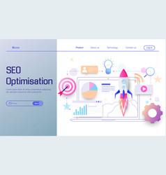 seo optimization technology modern flat design vector image