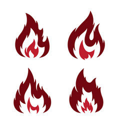 set flame vector image