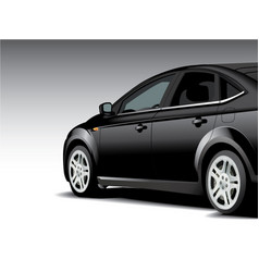 Side black sports car vector