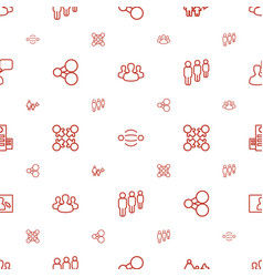 Social icons pattern seamless white background vector