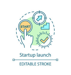 Startup launch concept icon vector