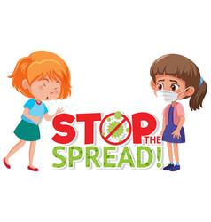 Stop corona virus sign vector