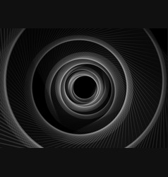 striped spiral abstract tunnel dark vector image