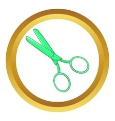 Tailor shears icon vector