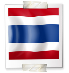 thailand flag on square paper vector image