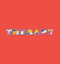 Therapy concept word art vector