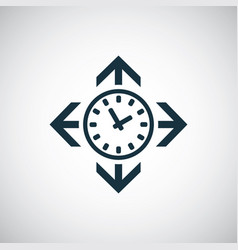 time arrows icon for web and ui on white vector image