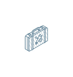 toolbox isometric icon 3d line art technical vector image