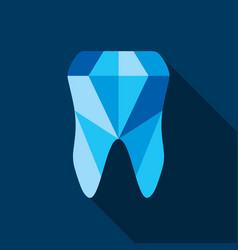 tooth symbol icon vector image