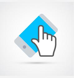 touchscreen cellphone trendy social symbol trendy vector image