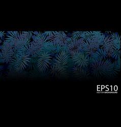 Tropical blue leaf pattern background vector