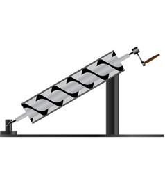 Typical archimedes screw machine vector