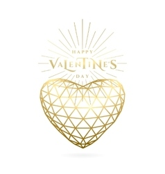 Valentines day golden vector