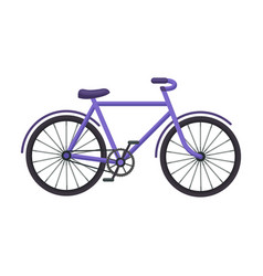 Walking bicycle with large shields and curves vector