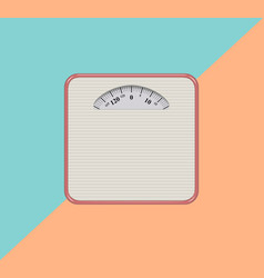 weight scale iconflat design vector image