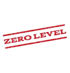 Zero Level Watermark Stamp vector