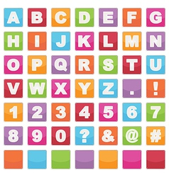 alphabet signs vector image