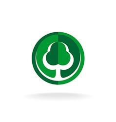 Green oak tree logo template vector image vector image
