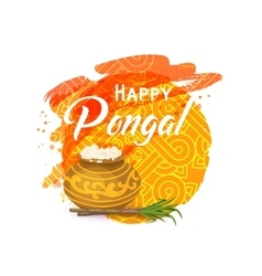 Thai Pongal greeting card vector image