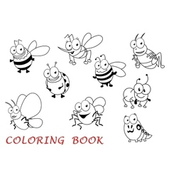 Cartoon isolated isect animals set vector image vector image