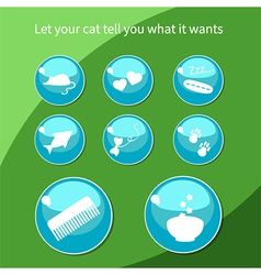 Cat buttons vector image vector image