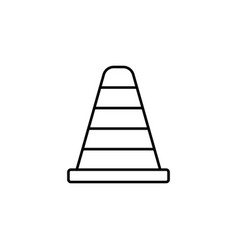 cone line icon navigation and traffic warning vector image vector image
