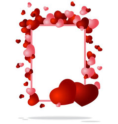 congratulatory background with two hearts vector image