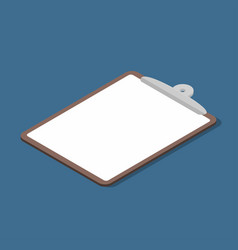 isometric clipboard with empty page business vector image vector image