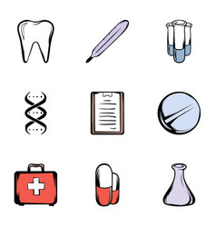 medical things icons set cartoon style vector image vector image