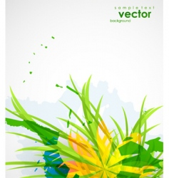 natural themed background vector image vector image