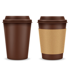 paper cup for coffee stock vector image vector image