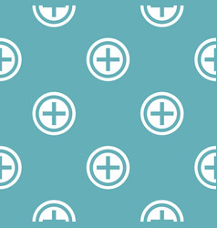 plus pattern seamless blue vector image