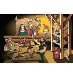 Vikings feast vector image vector image