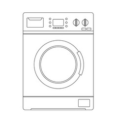 washing machine outline icon vector image vector image