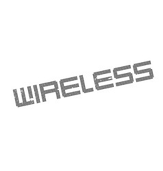 wireless rubber stamp vector image