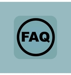Pale blue FAQ sign vector image