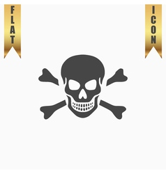 Skull and crossbones icon isolated vector image