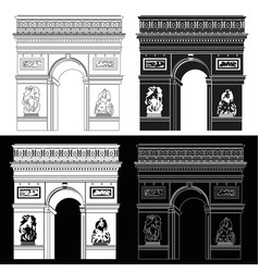 triumphal arch in black and white vector image vector image