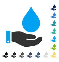 Water service icon vector
