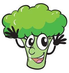 a broccoli vector image vector image